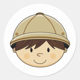 Cute Safari Boy Sticker