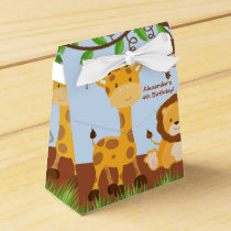Cute Safari Jungle Animal Boy Tent Favor Box