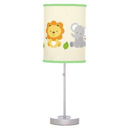 Cute Safari Jungle Animal Nursery Table Lamp