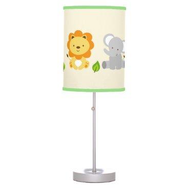 LittlePrintsParties Cute Safari Jungle Animal Nursery Table Lamp