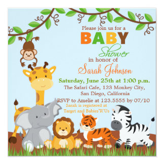 jungle baby shower invitations,  jungle baby shower, Baby shower