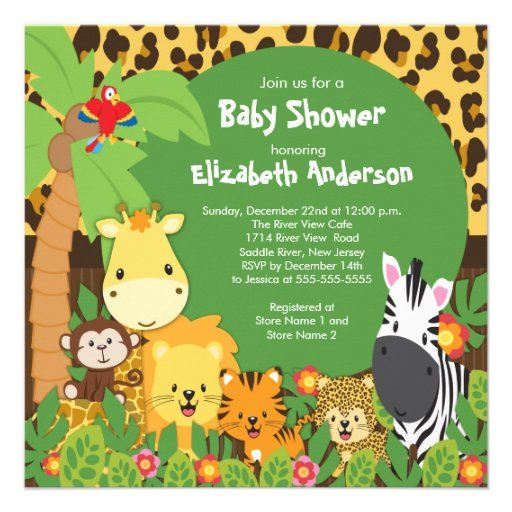 Safari Theme Baby Shower Invitations is an amazing ideas you had to choose for invitation design