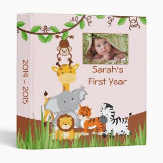 Cute Safari Jungle Baby Animal Girl Photo Album Binder