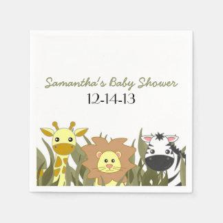 Cute Safari Jungle Baby Shower Custom Napkin