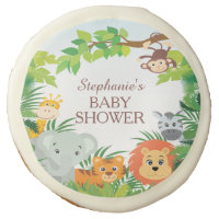 Cute Safari Jungle Baby Shower Favor Cookie