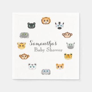 Cute Safari Jungle Baby Shower Paper Napkin