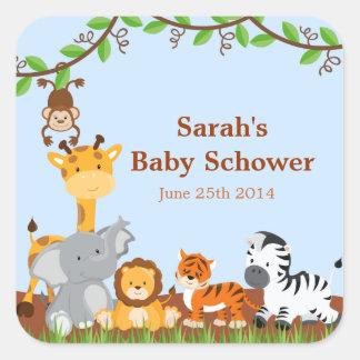 Cute Safari Jungle Baby Shower Stickers Sticker