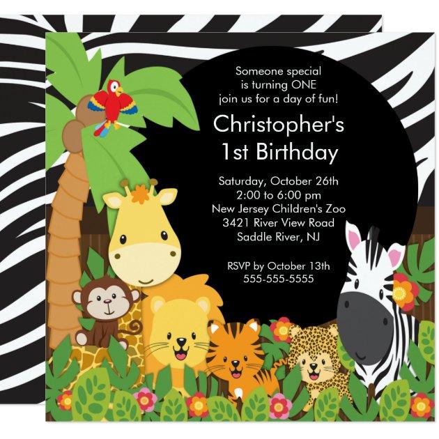 zoo birthday party invitations  announcements  zazzle, Birthday invitations