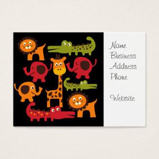 Cute Safari Jungle Zoo Animals Print Gifts Business Card