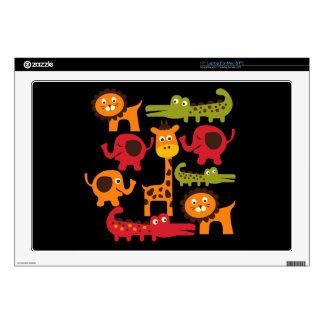 "Cute Safari Jungle Zoo Animals Print Gifts 17"" Laptop Decals"
