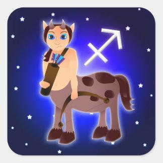 Cute Sagittarius Zodiac Square Sticker