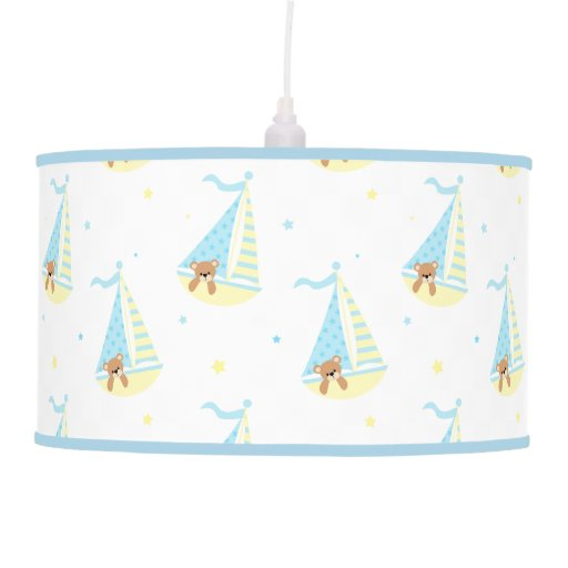 Cute Sailboat Bear Pattern Pendant Lamp