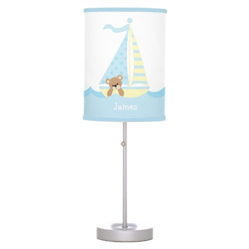Cute Sailboat Bear Personalized Desk Lamp
