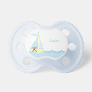 Cute Sailboat Bear Personalized BooginHead Pacifier
