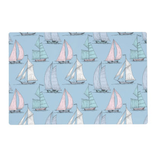 Cute Sailboat Pattern 1 2 Placemat