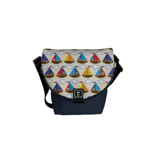 Cute Sailboat Pattern 2 Courier Bag