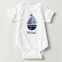 Cute Sailboat Personalized Baby T-Shirt