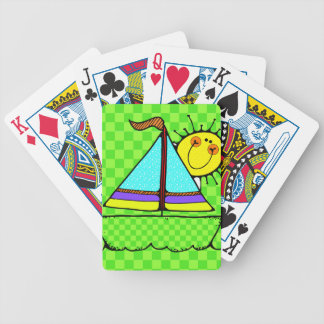 Cute Sailboat Playing Cards