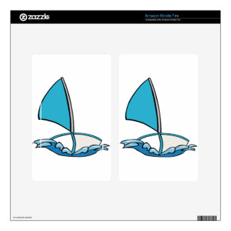 Cute Sailing Boat Kindle Fire Decals