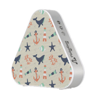 Cute sailor pattern with whale elements speaker