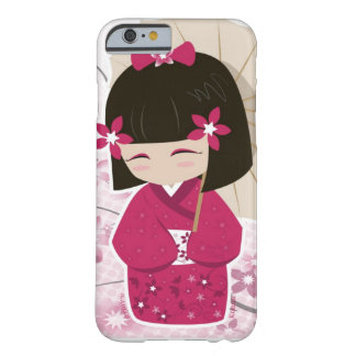 Cute Sakura Kokeshi Doll Barely There iPhone 6 Case