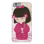 Cute Sakura Kokeshi Doll Barely There iPhone 6 Case