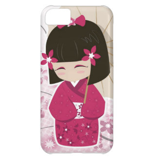 Cute Sakura Kokeshi Doll Cover For iPhone 5C