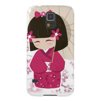 Cute Sakura Kokeshi Doll Galaxy S5 Case
