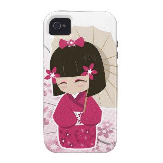 Cute Sakura Kokeshi Doll iPhone 4 Cases