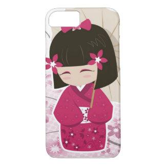 Cute Sakura Kokeshi Doll iPhone 7 Case