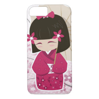 Cute Sakura Kokeshi Doll iPhone 8/7 Case