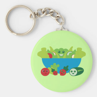 Cute Salad Keychain