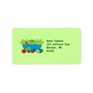 Cute Salad Personalized Address Labels