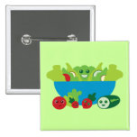 Cute Salad Pinback Buttons