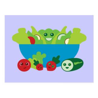 Cute Salad Post Card