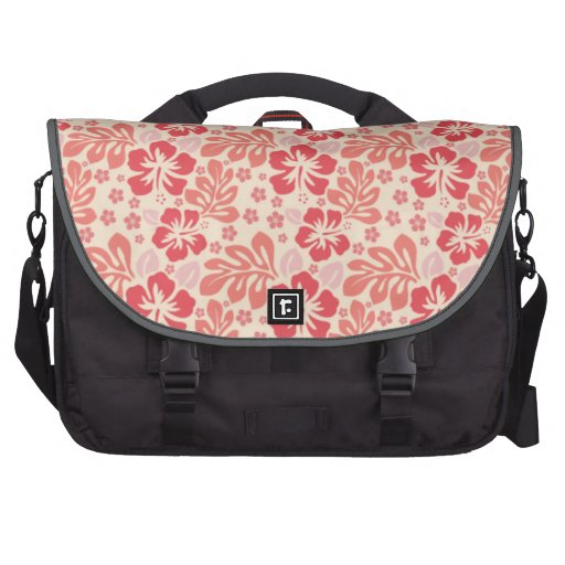 Cute Salmon and Coral Pink Floral Pattern Commuter Bag