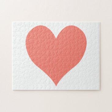 cuteheartshop Cute Salmon Heart Jigsaw Puzzle