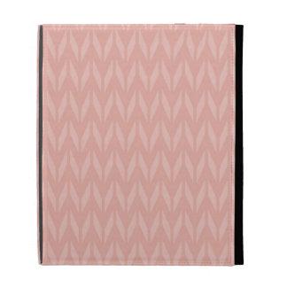 Cute Salmon Pink Retro Chevron iPad Cases