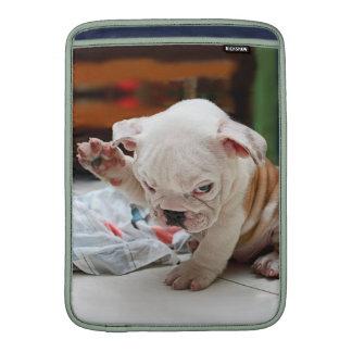 Cute Salute English Bulldog Puppy MacBook Air Sleeve
