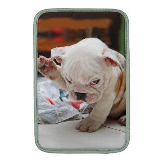 Cute Salute English Bulldog Puppy Sleeve For MacBook Air
