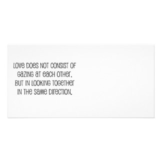 """Cute, """"Same Direction"""" Marriage quote Customized Photo Card"""