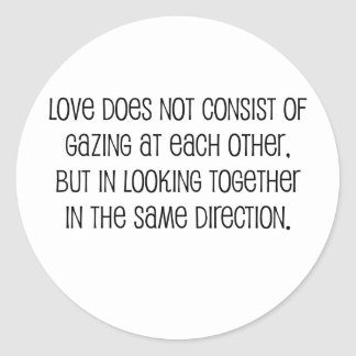 """Cute, """"Same Direction"""" Marriage quote Stickers"""