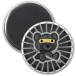 Cute samurai warrior ninja teddy bear on magnet