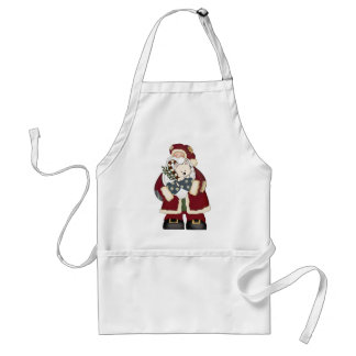 Cute Santa and Puppy Adult Apron
