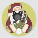 Cute Santa and Puppy Stickers
