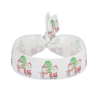 Cute Santa And Snowman Elastic Hair Ties