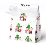 Cute Santa And Snowman Party Favor Boxes
