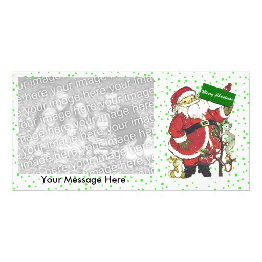 Cute Santa Animals Merry Christmas  Card