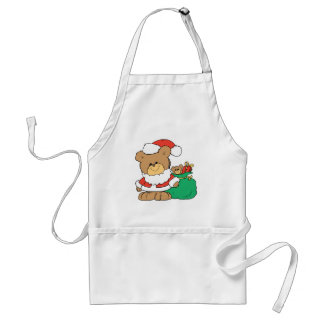 Cute Santa Bear and Toy Sack Apron