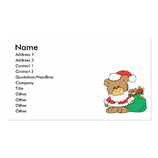 Cute Santa Bear and Toy Sack Business Card